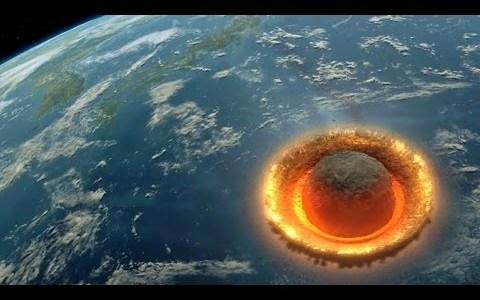Simulación de qué pasaría si un asteroide de 500km de diámetro impactase contra La Tierra