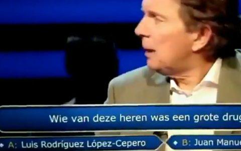 """Televisión holandesa. Programa: """"¿Quién quiere ser millonario?"""". Pregunta: ¿Cuál de estos caballeros era un importante traficante de droja?"""