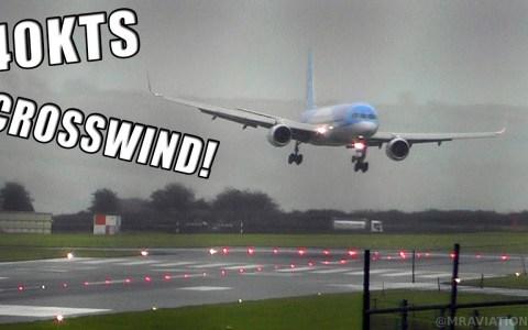 Aterrizaje con SUPER VIENTO CRUZADO