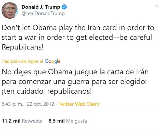 Donald Trump es bueno adivinando lo que va a pasar, solo se ha equivocado de persona