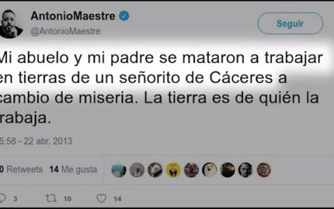 """El padre de Antonio Maestre es el señor ese que decía """"soy modelo, soy vigilante de seguridad, estoy embarazado..."""""""