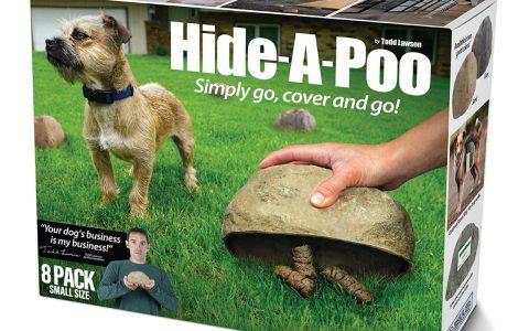 Ya era hora que inventaran una piedra fake para esconder la caca de tu perrito.