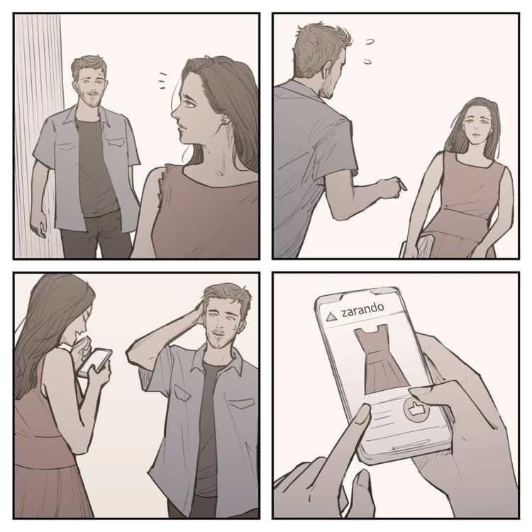 La verdadera historia detrás del meme de la novia celosa