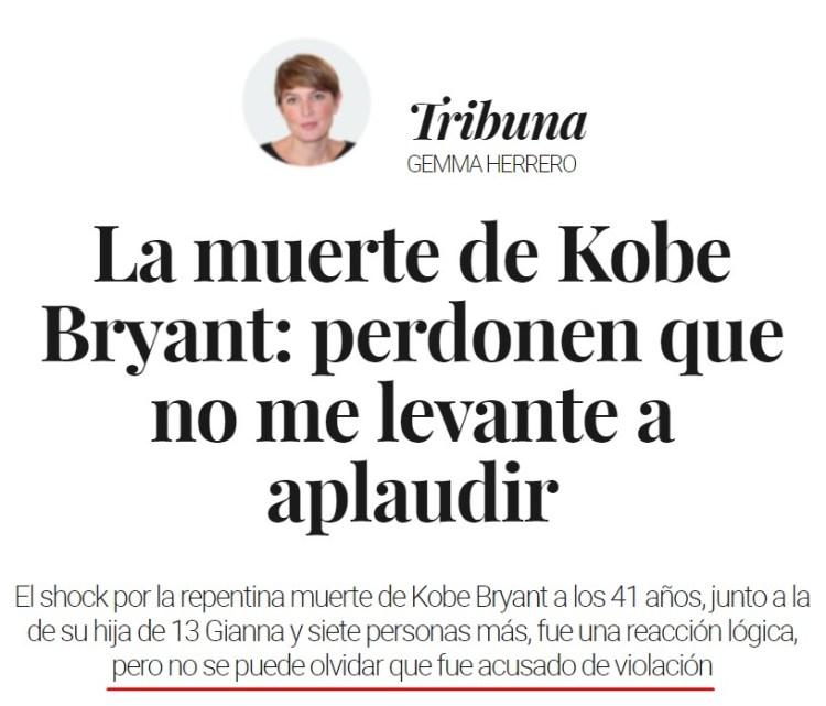 Vaya, qué homenaje más raro a Kobe Bryant...