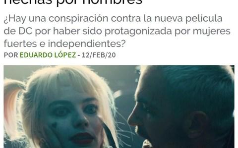 La web de cine Tomatazos acusa a la mayoría de los hombres de ser misóginos y de no estar dispuestos a ver una peli con mujeres fuertes e independientes