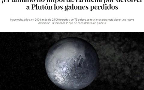 Malditos 100tíficos, dejad de jugar con los sentimientos de Plutón