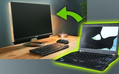 Transformando un portátil averiado en un ordenador todo en uno