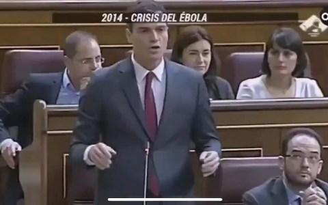 2014, Crisis del Ébola, 0 muertos, PDRO SNCHZ sumando para restar:
