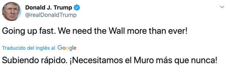Donald Trump muestra preocupación por los mejicanos y afirma que el muro es más necesario que nunca para protegerse del coronavirus
