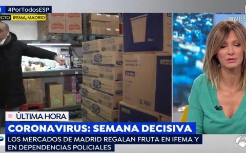 Espejo Público se cuela en IFEMA sin guantes, sin mascarilla... y tosiendo 🤦♂️
