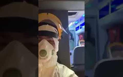 Paramédicos polacos haciendo el servicio con la canción de GHOSTBUSTERS de fondo