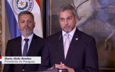 El presidente de Paraguay deja en manos de Dios la protección de su país frente al virus