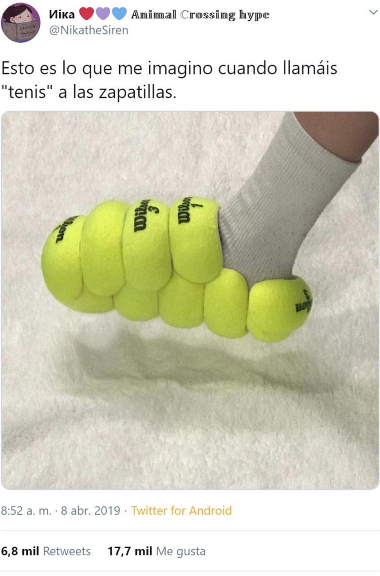 """Me uno a la plataforma """"dejad de llamar tenis a las zapatillas"""""""
