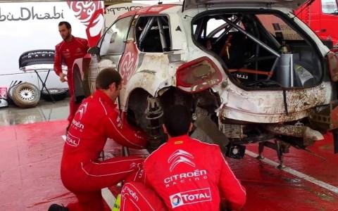 Un vídeo muy satisfactorio en el que podemos ver a un grupo de mecánicos de rally reparando un Citroen DS3 con la parte trasera muy dañada, en solo 30 minutos