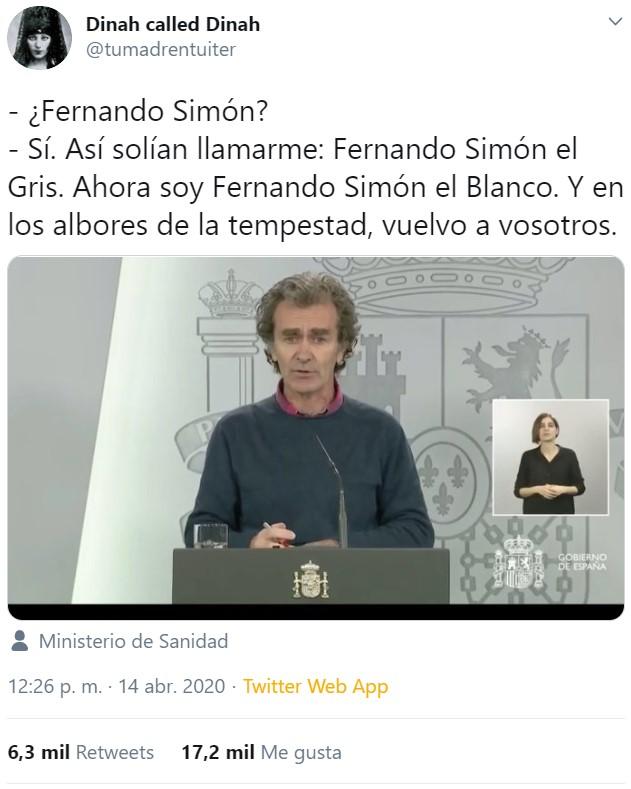 La llamada de Fernando Simón
