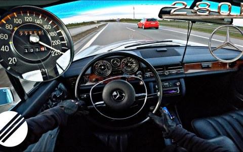 Con esta facilidad supera los 220km/h un Mercedes-Benz 280 E de 1973