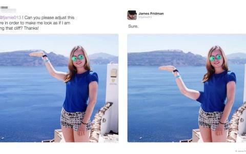 Nunca pidas ayuda con Photoshop en Internet: 40 peticiones a James Fridman