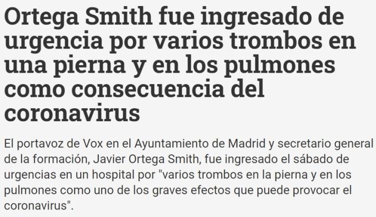 Ánimo Javier, seguro que Dios, la Virgen, y tus anticuerpos españoles, ayudan a que te recuperes rápidamente