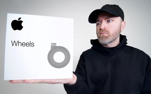 Unboxing de las ruedas de 849€ del MAC PRO de Apple