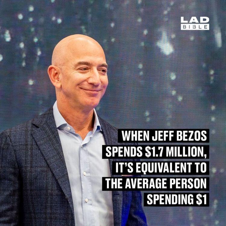 Cuando Jeff Bezos gasta 1,7 millones de dólares en algo, es como si un americano gastase 1 dólar