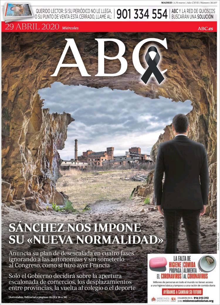 La portada de ABC de hace dos días que querían publicar pero finalmente censuraron
