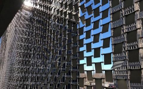Wind Wall: La fachada que interactua con el aire