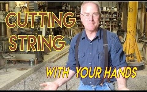 Cómo cortar cuerda sin tijeras, solamente usando tus manos