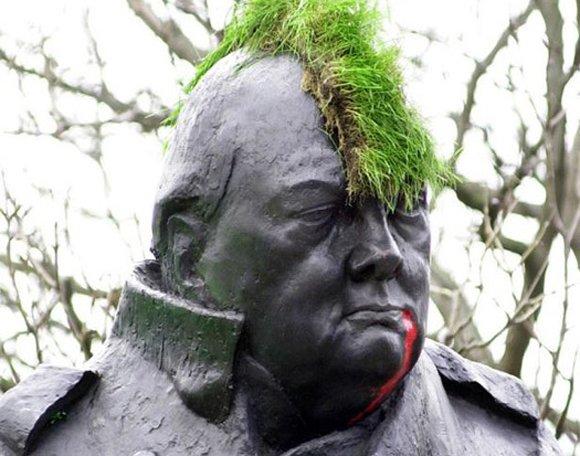 La estatua de Churchill hoy en Londres