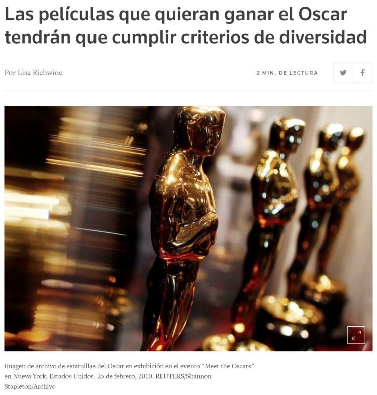 Si tu película no es inclusiva, no podrás optar a los Oscar