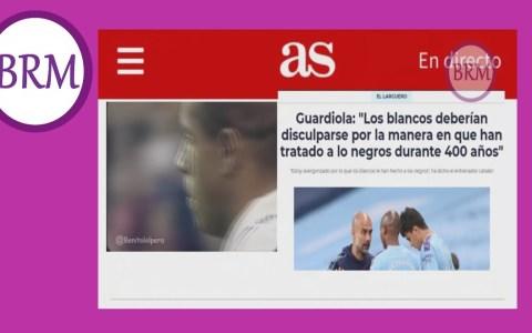 """Guardiola guardioleando: """"Me avergüenza cómo los blancos hemos tratado a los negros durante 400 años"""""""