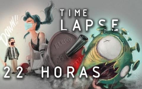 Pintura digital: Time lapse de 22 horas de dibujo by el fínolier @cualigrafia