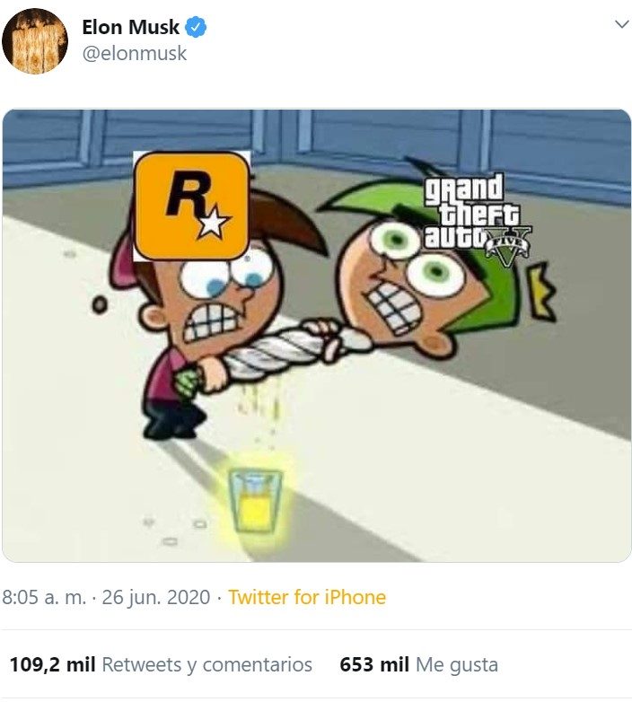 Hasta Elon Musk hace memes sobre Rockstar exprimiendo el GTA V hasta dejarlo seco