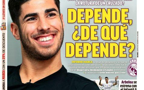 La portada del Marca de hoy.