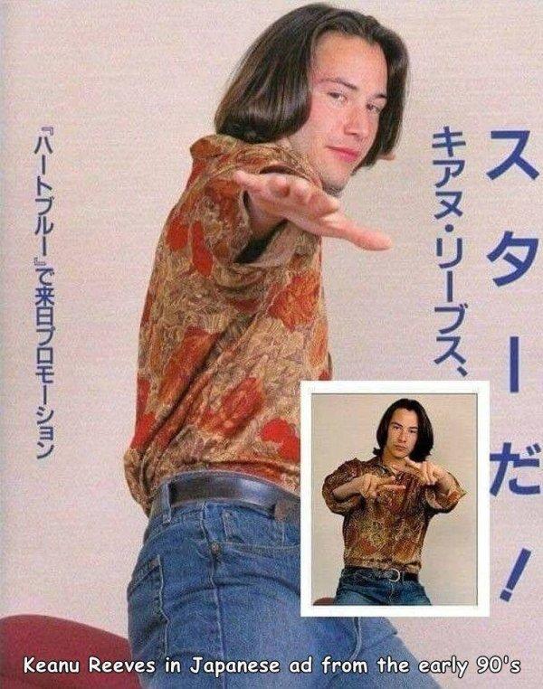 Keanu Reeves de un anuncio japo os desea feliz lunes