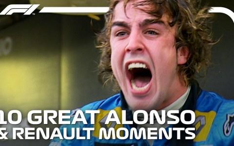Ahora que Fernando Alonso vuelve a la F1 de la mano de Renault, recordemos sus mejores momentos con la escudería francesa