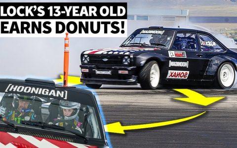 Ken Block enseña a su hija de 13 años a hacer drifting