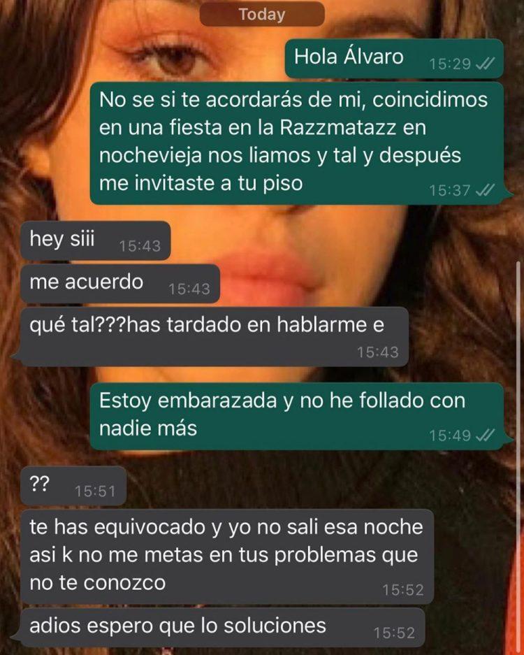 A Álvaro no se le da bien la marcha atrás, pero ni en la cama ni en el Whatsapp...