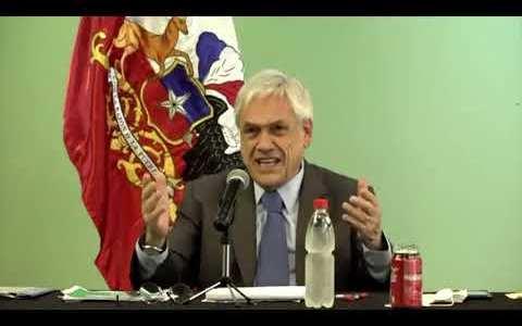 """El Presidente de Chile le pide al virus """"que se vaya y nos deje tranquilos"""""""