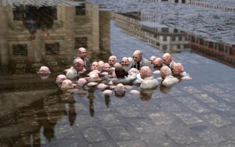 Políticos discutiendo sobre el cambio climático