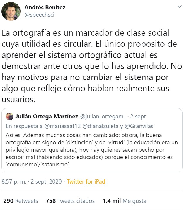 Andrés Benítez es el héroe de los ignorantes y los mediocres. Tiene futuro en cierto partido.