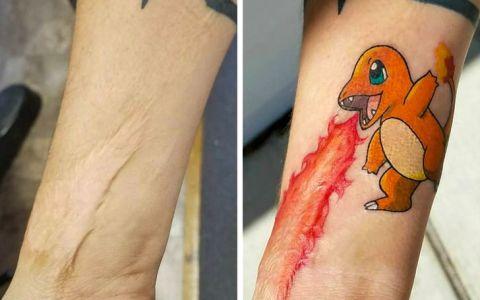 Los tatuajes pueden ser una original forma de disimular cicatrices
