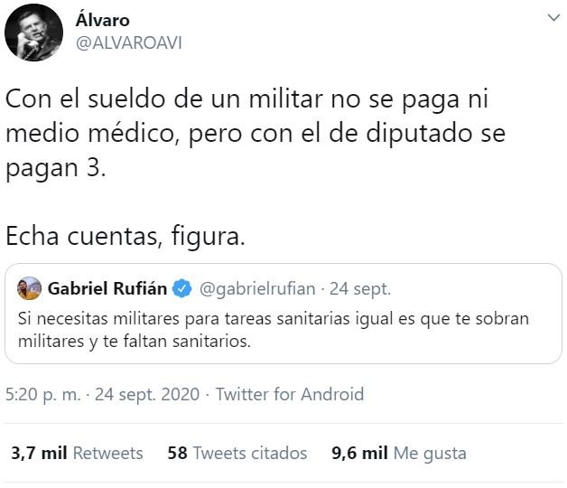 El día que se necesiten más militares de los que tenemos y tiremos de reservistas, supongo que Gabriel repetirá el argumen... JAJAJA NO.