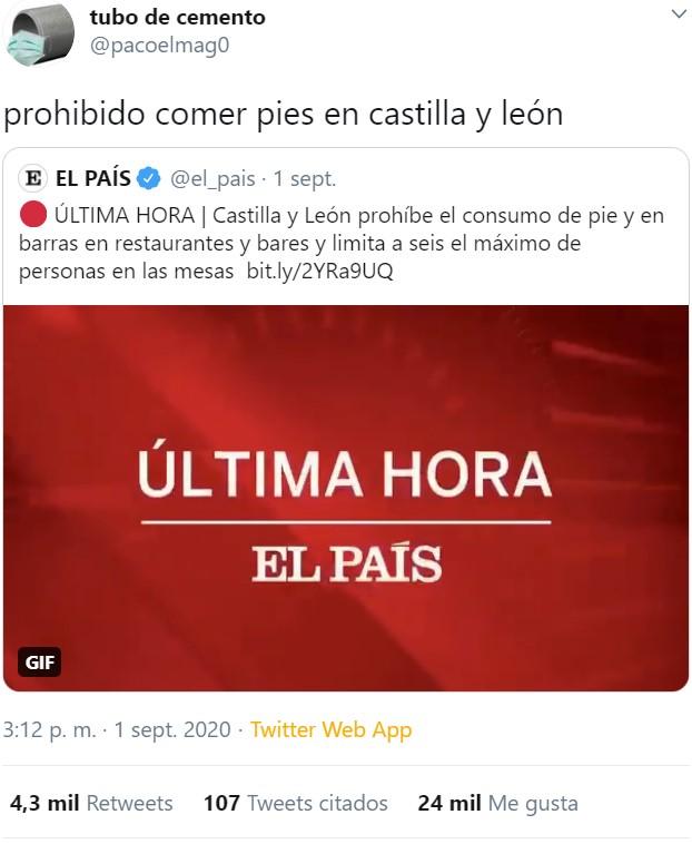 Se endurecen las medidas en Castilla y León...