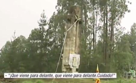 Cómo NO derribar una cruz franquista