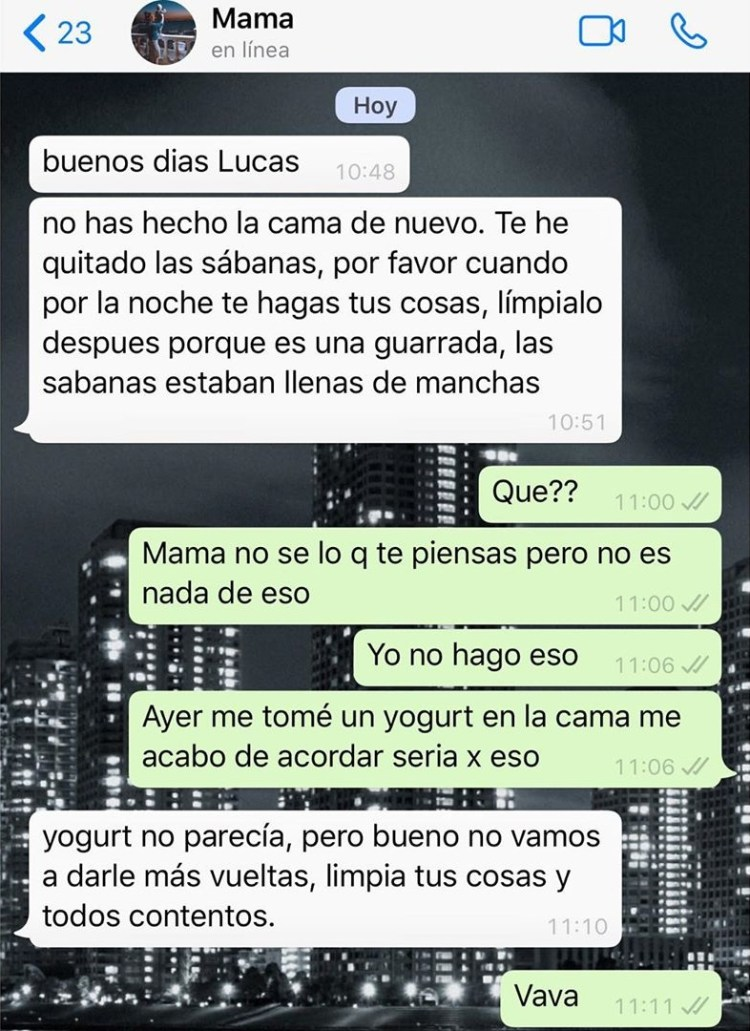 Lucas macho no seas tan guarro...