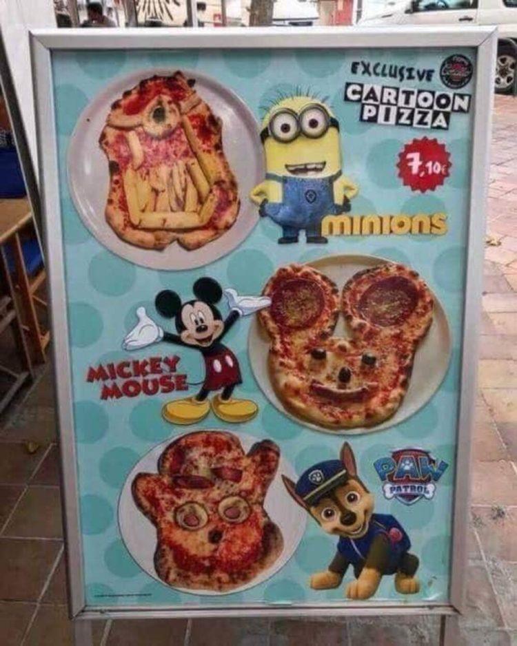 Trae a tus hijos a la Pizzería Cartoon Network para que puedan comer una maravillosa pizza CREADA POR BELCEBÚ EN LOS HORNOS DEL INFIERNO