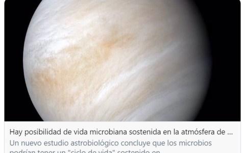"""2020 está siendo la leche. """"Season 9"""": Posible descubrimiento de vida extraterrestre microbiana en Venus.."""