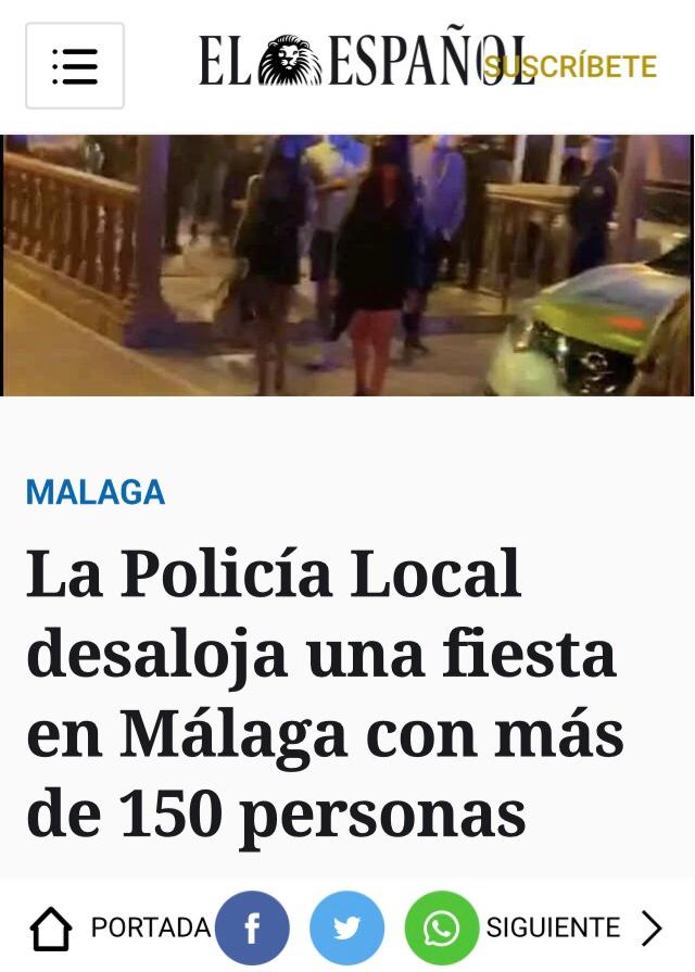 El Español dando una noticia / El Español siendo noticia.