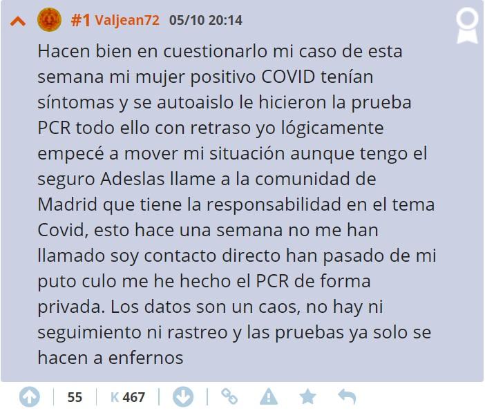 Sanidad cuestiona la veracidad de los datos que ofrece la Comunidad de Madrid