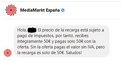 """OFERTAZA: """"Antes te dábamos 50€ por 63,99€ ¡y ahora te los puedes llevar por el fantástico precio de 50€!"""""""